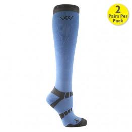 Woof Wear Long Bamboo Waffle KnitRiding Socks: Pack of 2