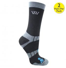 Black Woof Short Socks