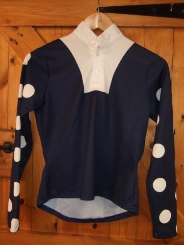 Dark Blue with white multi spots