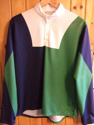 Dark Blue/Emerald Green halved body, diablo sleeves