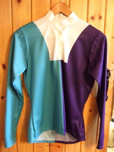 Kingfisher/Purple halved design