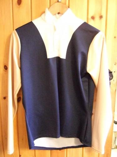 Dark Blue with Beige sleeves