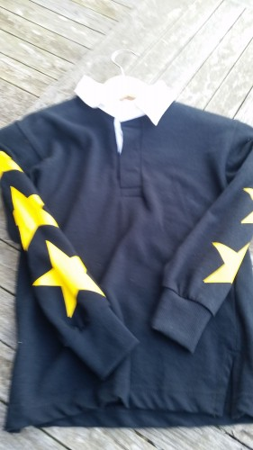 Navy with yellow stars