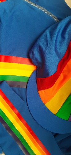 Rainbow Colours - available with stripe on sleeves only or stripe body and sleeves.