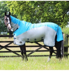 Blue/Grey Gallop turn out/ fly rug
