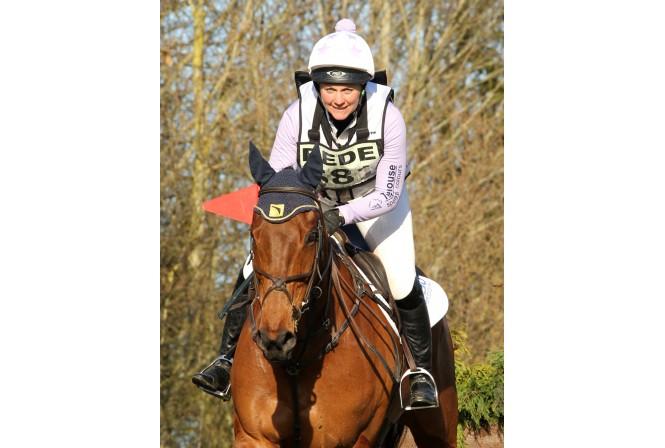 Gemma on her Badminton horse Artic Soul.
