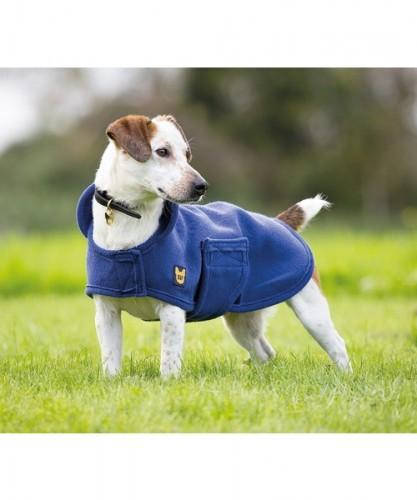 Navy Digby & Fox Dog Towel Coat