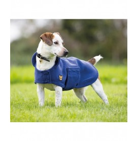 Navy Digby & Fox Dog Towel Coat