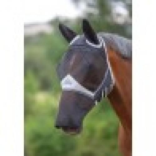 Flymask:Full face & Ears Black