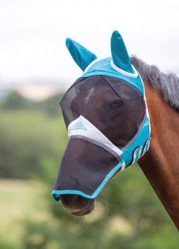 Shires Fine Mesh Fly Mask with Ears & Nose image #