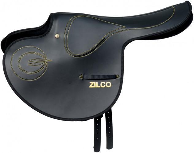 Zilco Smooth Full Tree Race Exercise Saddle with closed stirrup bar