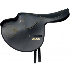 Zilco Smooth Full Tree Race Exercise Saddle with closed stirrup bar