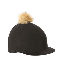 Black Shires Cap with Faux Pom