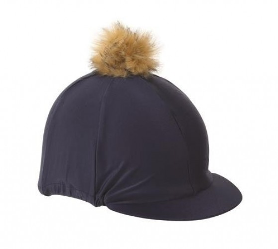 Navy Shires Cap with Faux Pom