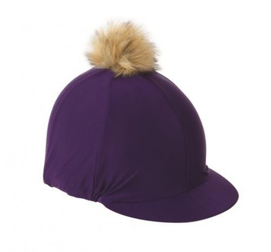 Purple Shires Cap with Faux Pom