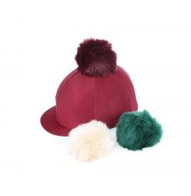 Switch It Faux Fur Poms Lycra Hat Cover