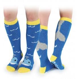 Whale Fluffy Socks