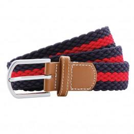 Two-Colour Stripe Braid Stretch Belt