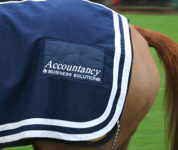 Stitched paddock sheet patch for A+ Accountancy.