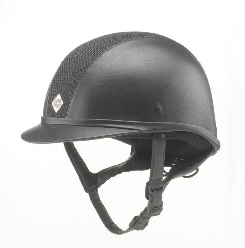 Black AYR8 Leather Look Hat