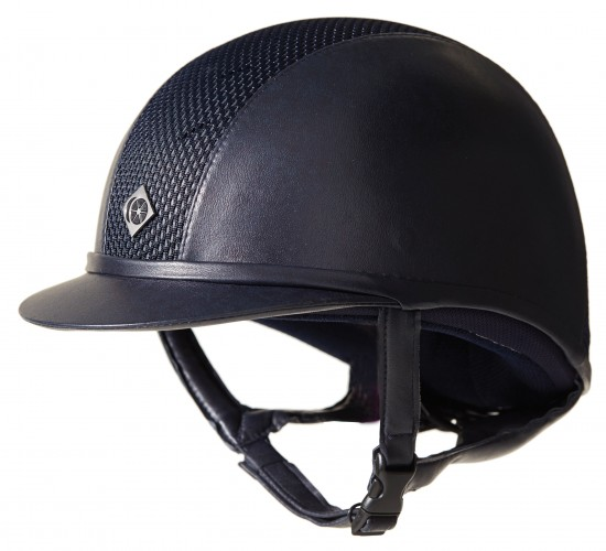 Navy AYR8 Leather Look Hat