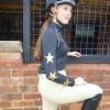 Standard Lycra Black with Gold Metallic  Matt Stars