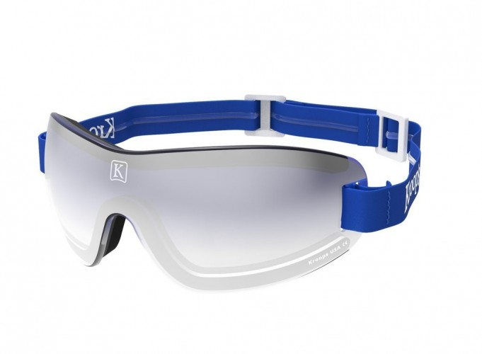 Blue gradient mirror lens with blue strap