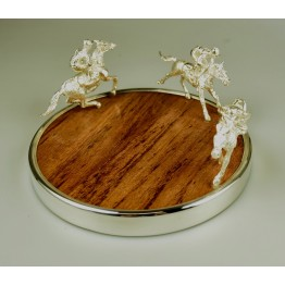 Racehorse Jockey Bottle Coaster