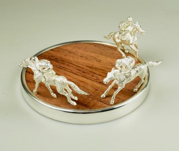 Racehorse Jockey Bottle Coaster image #