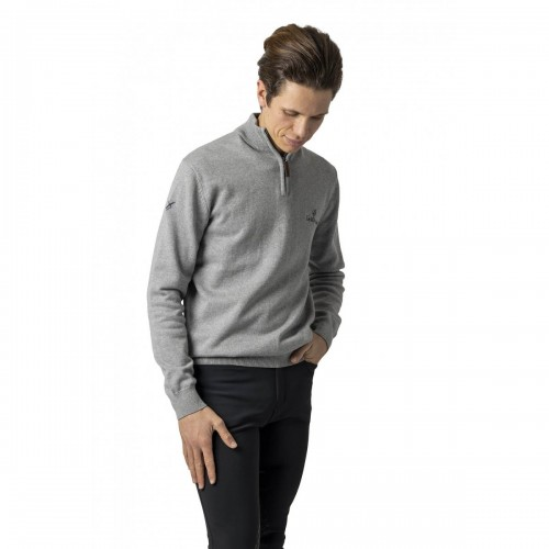 Black Breeches with Grey Crew Jumper