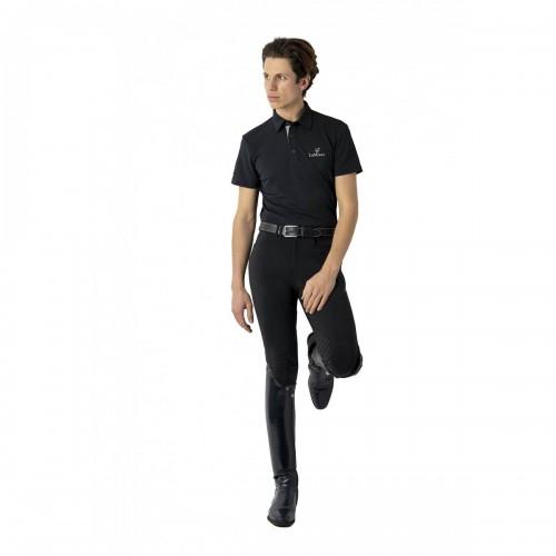 Black Breeches with Black Polo Shirt