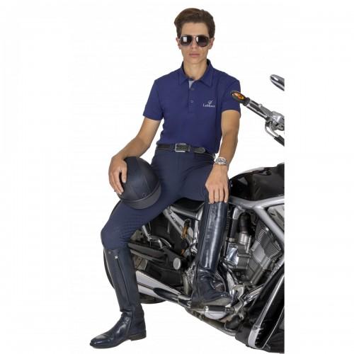 Navy Breeches with Navy Polo Top