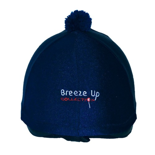 Navy Breeze Up lycra hat cover