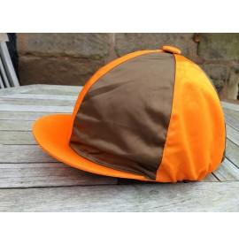 Brown and orange quartered