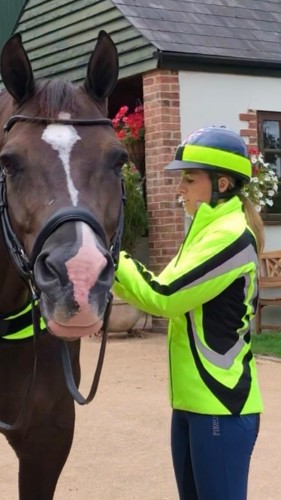 Charlotte Dujardin Cadence Reflective Riding Jacket by Equisafety image #