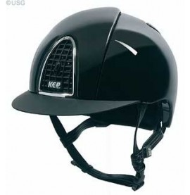 Black Kep Cromo Shine with black grid, chrome frame and black visor.