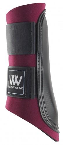 Burgundy/ Black Strap Woof Boots
