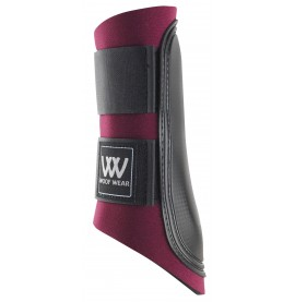 Burgundy/ Black Strap Woof Boots