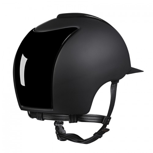 Kep Cromo T Polish in black with front and back inserts and visor