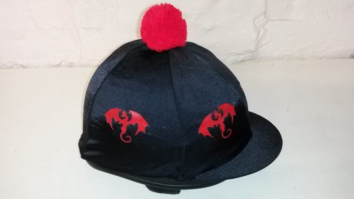 Standard Lycra Dragon Design for the hats and shirts.