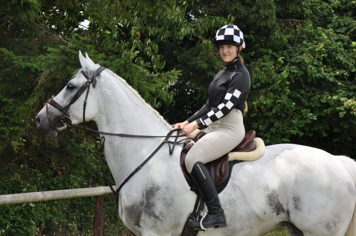 Black and White Checked XC Set