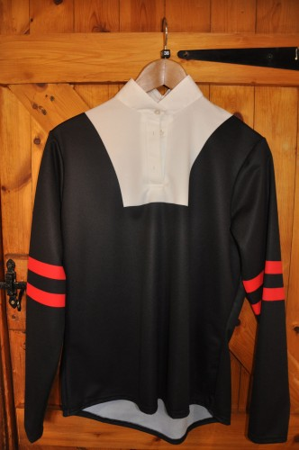 Black with 2 red hoops