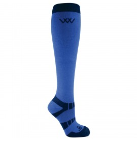 Electric Blue/ Black Woof Long riding sock