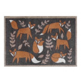 Turtle Mat Folky Foxes