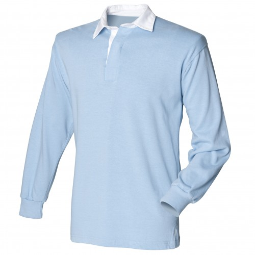 Light Blue Ladies Rugby Shirt