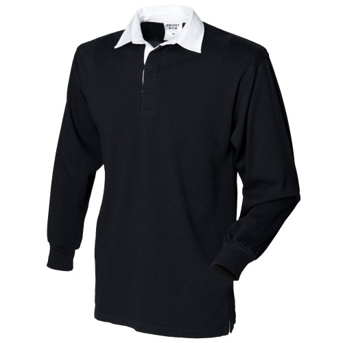 Black Ladies Rugby Shirt