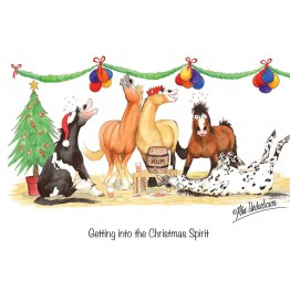 Horse, Hound and Farm Animal Christmas Greeting Cards by Alex Underdown