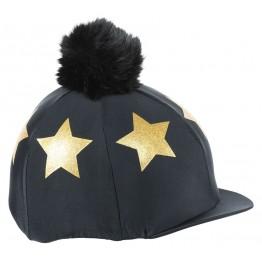 Glitter Star Hat Cover - Black/Gold