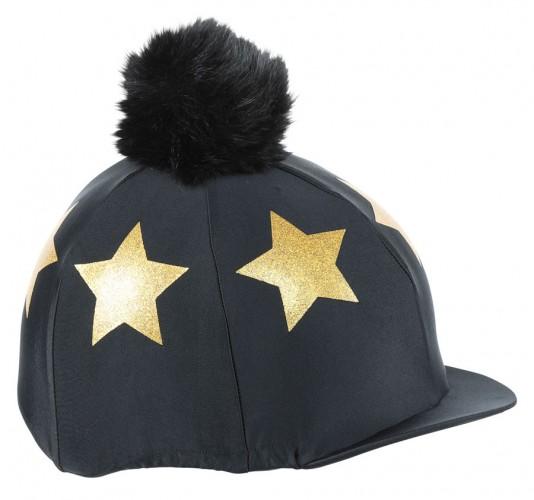 Glitter Star Hat Cover - Black/Gold image #