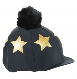 Glitter Star Hat Cover - Black/Gold